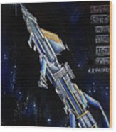 Very Big Space Shuttle Of Alien Civilization Wood Print