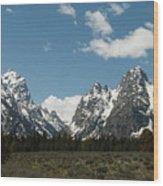 Very Grand Tetons Wood Print