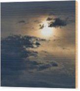 Very Hazy Sunset Wood Print