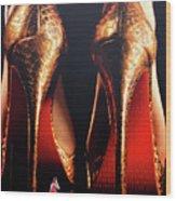 Very High Heels Wood Print