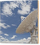 Very Large Array Antenna Wood Print by Bryan Mullennix