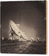 Very Large Array Sepia Wood Print