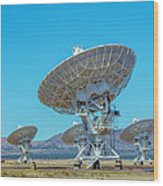 Very Large Array Side View Wood Print