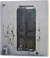 Very Old Door Wood Print