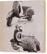 Vespa Scooter 1969 Wood Print by Michael Tompsett