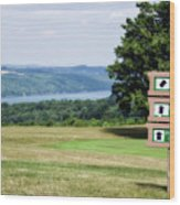 Vesper Hills Golf Club Tully New York 1st Tee Signage Wood Print