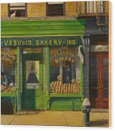 Vesuvio Bakery In New York City Wood Print