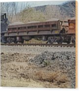 Vesuvius Train Wood Print