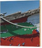 Veteran Rowboat Wood Print