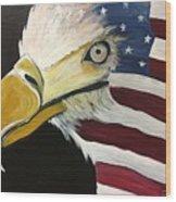 Veteran's Day Eagle Wood Print