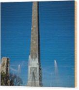 Veteran's Memorial Plaza Wood Print