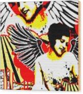 Vexed Angel Wood Print