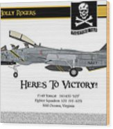 Vf-103 Jolly Rogers Wood Print