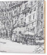 Via Nomentana Rome Wood Print