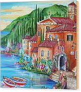 Via Positano By The Lake Wood Print