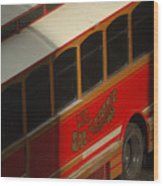 Via San Antonio Trolley Wood Print
