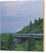 Viaduct At Sunset Wood Print