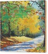 Vibrant Autumn Wood Print