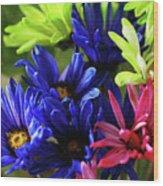 Vibrant Chrysanthemums Wood Print