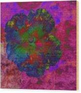 Vibrant Flower Series 1 Wood Print by Jen White