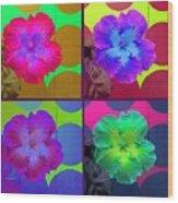 Vibrant Flower Series 2 Wood Print by Jen White