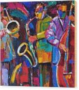 Vibrant Jazz Wood Print
