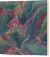 Vibrant Leaves Wood Print