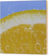 Vibrant Orange Wood Print