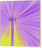 Vibrant Palm Frond Square Wood Print