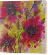 Vibrant Pink Poppies Wood Print