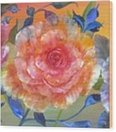 Vibrant Roses Wood Print