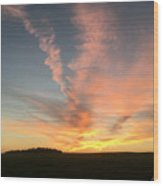 Vibrant Sunset Wood Print