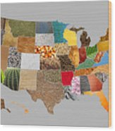 Vibrant Textures Of The United States Wood Print