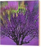 Vibrant Tree Wood Print