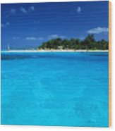 Vibrant Turquoise Waters Wood Print