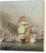 Vice Admiral Sir George Anson's Wood Print by Samuel Scott