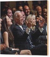 Vice President Joe Biden Flanked Wood Print by Everett