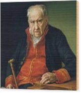 Vicente Portaia Lopez  Felix Maximo Lopez First Organist Of The Royal Chapel 1820 Wood Print