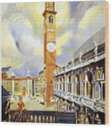 Vicenza Italy Travel Poster Wood Print