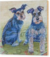 Vickie's Pups Wood Print