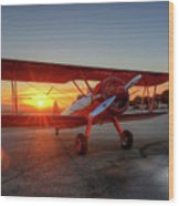 Vicky Benzings 1942 Boring Stearman At Livermore Wood Print