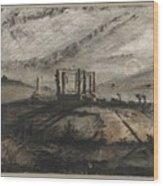 Victor Hugo   Gallows Of Montfaucon   1847 Wood Print