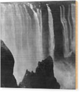 Victoria Falls - C 1911 Wood Print by International  Images