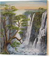 Victoria Falls Zimbabwe  Wood Print