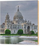 Victoria Memorial Hall Calcutta Kolkata Wood Print