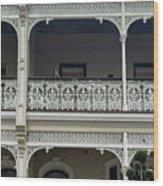 Victoria Street Balcony Wood Print