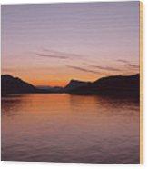 Victoria Sun Set Wood Print