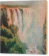 Victoria Waterfalls L B Wood Print
