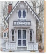 Victorian Cottage Watercolor Wood Print