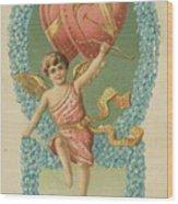 Victorian Cupid Wood Print
